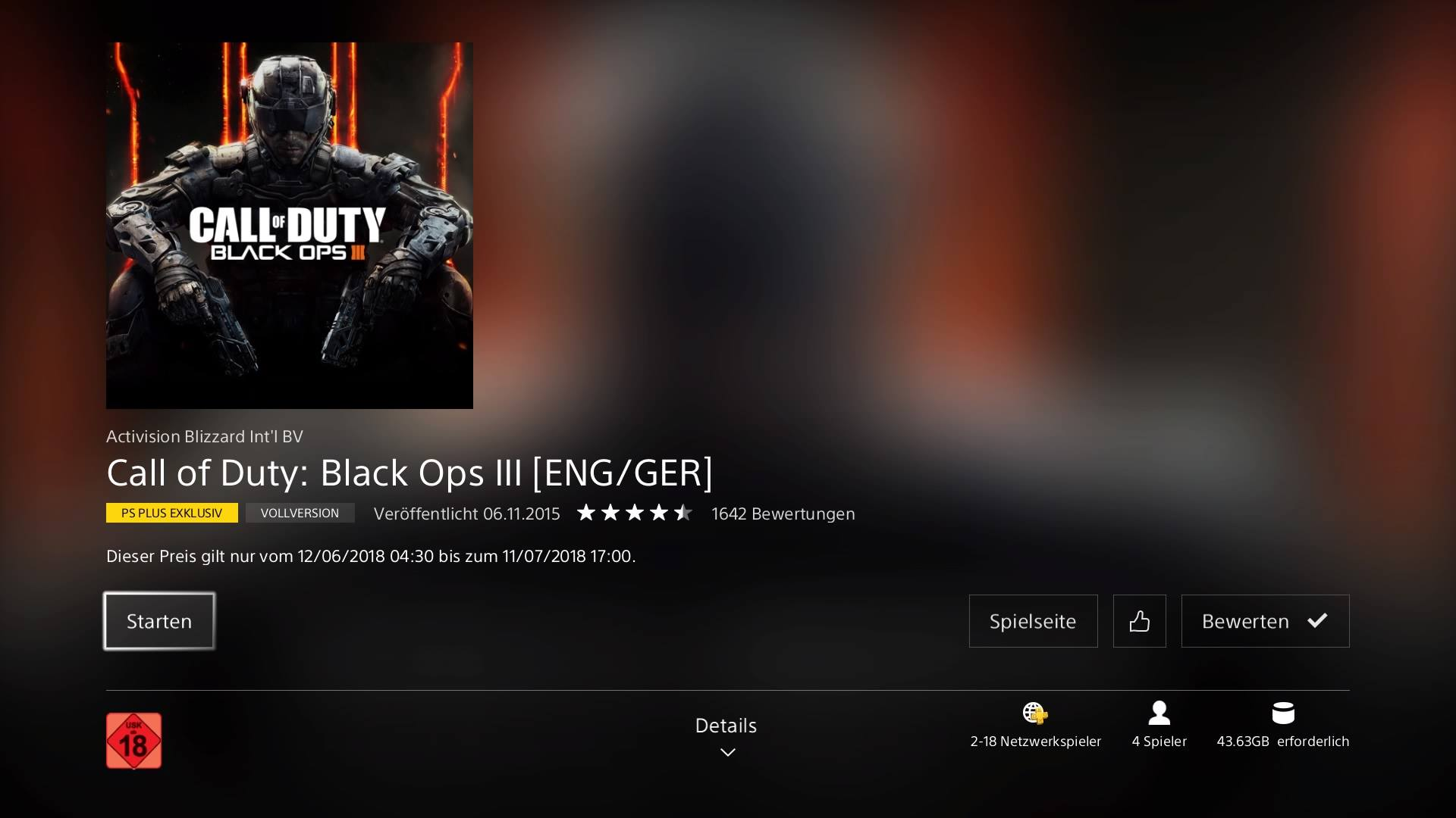 Call of Duty - Black  Ops 3 gratis im PSN Store